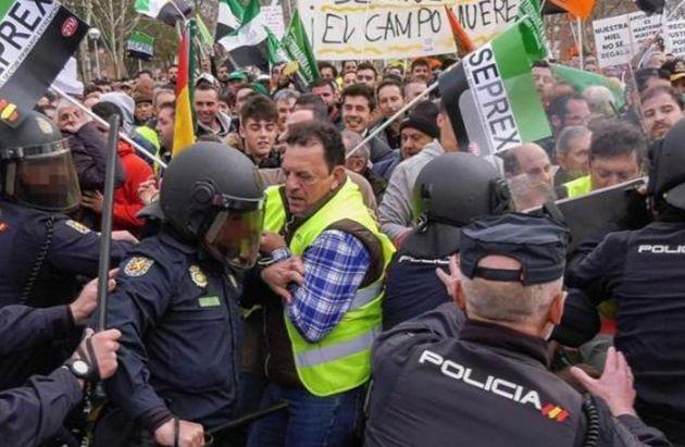 Protesta de los agricultores