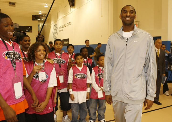 Kobe Bryant met with children at a Las Vegas Boys and Girls Club in 2007. In the wake of his death, experts say it's important for parents to help their kids deal with feelings of grief.