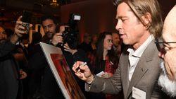 Brad Pitt porte une étiquette indiquant son nom au dîner des Oscars et les internautes