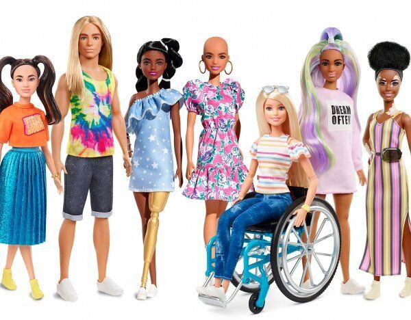 Fortunately, these are much more inclusive than the Barbie dolls that your mom used to play with.