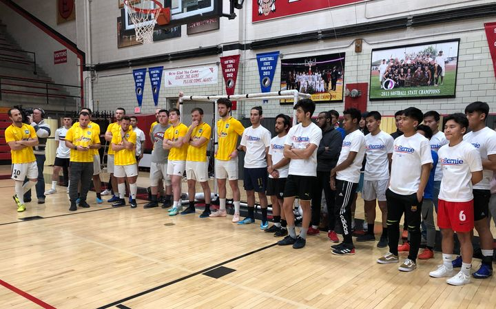 Members of communities of color in Des Moines turned up at East High School for a caucus training and soccer tournament sponsored by Sen. Bernie Sanders' (I-Vt.) presidential campaign.