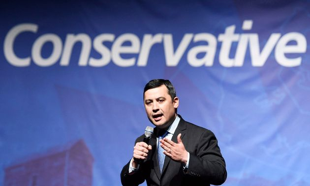 Michael Chong speaks during the Conservative Party of Canada leadership debate in Toronto on April 26,