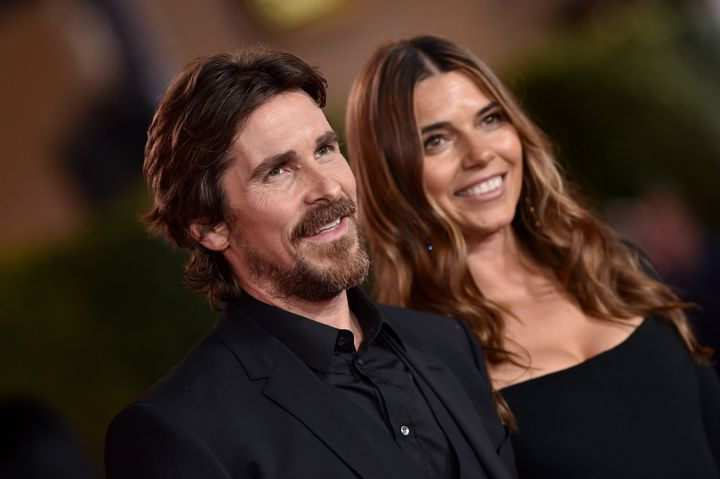 "Christian Bale and Sibi Blažić attend the Premiere of Foc's ""Ford v Ferrari"" at TCL Chinese Theatre in November in Hollywood."