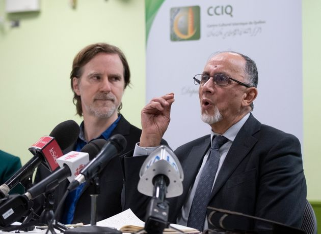 Boufeldja Benabdallah, president of Quebec's Islamic Cultural Centre (CCIQ), speaks at a news conference...