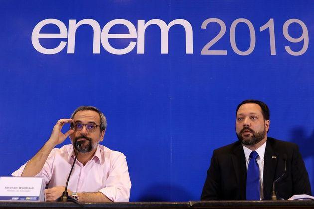 Abraham Weintraub e Alexandre Lopes, presidente do