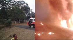 Terrifying Video Shows Australian Wildfire Roar Through Forest In Less Than A