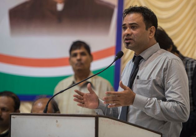 Dr. Kafeel Khan speaks during an open debate on India After 2014 organised by The Arts & Culture...