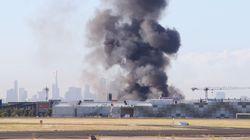 Πέντε νεκροί σε συντριβή μικρού αεροπλάνου σε εμπορικό κέντρο στην