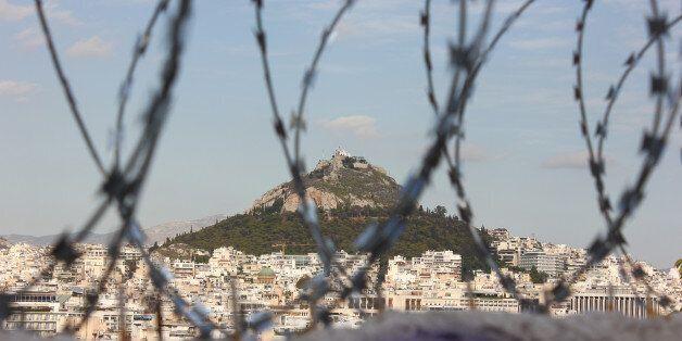 Athens view to Lykabettos