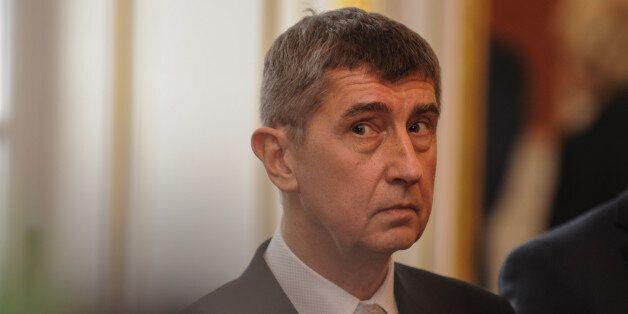 PRAGUE, CZECH REPUBLIC - JANUARY 29: New Czech Minister of Finance Andrej Babis of ANO party attends...