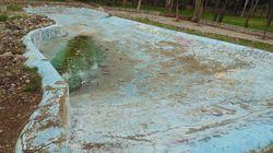 Αυτοψία στο άλσος της Νέας Φιλαδέλφειας: Από τις μακέτες του γηπέδου στα σκουπίδια και την