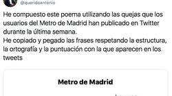Un guionista de 'El Intermedio' triunfa con este poema que ha escrito con las quejas al metro de