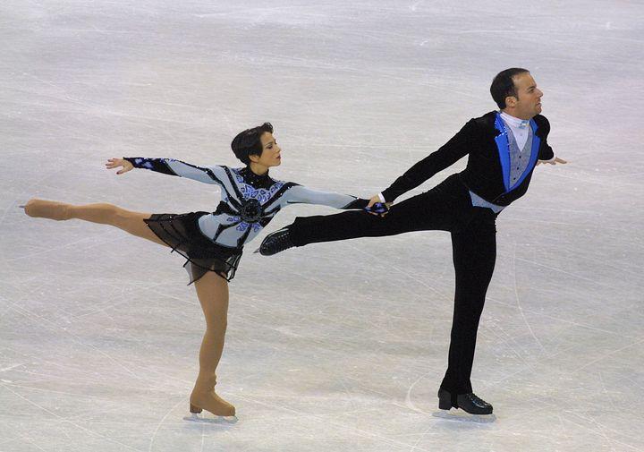 Sarah Abitbol et son partenaire Stéphane Bernadis