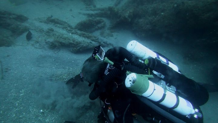 Michael Barnette on the wreck of the SS Cotopaxi searching for clues.
