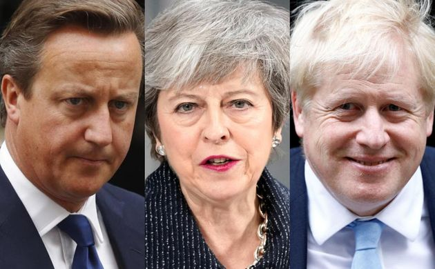 David Cameron, Theresa May y Boris