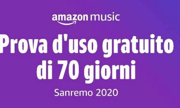 Amazon Music Unlimited gratis per 70 giorni. Amazon celebra