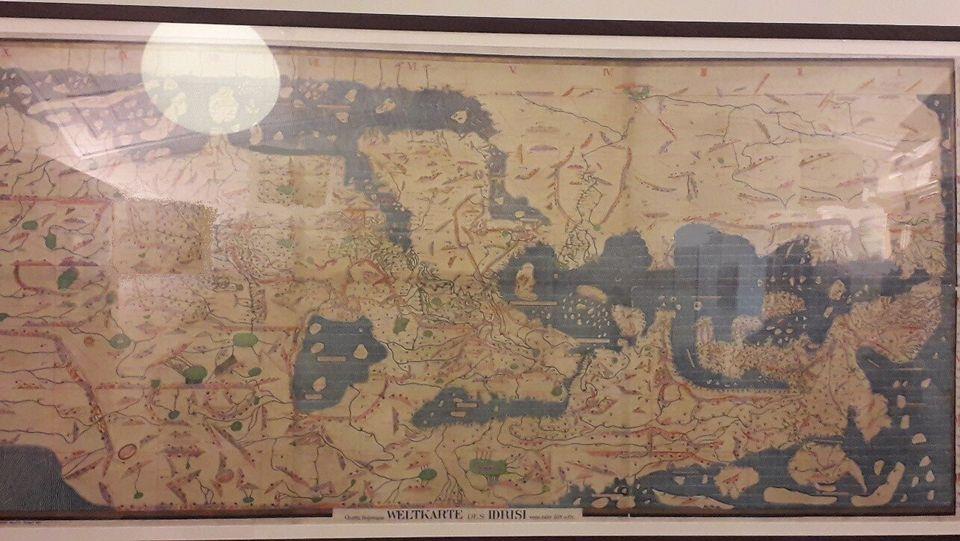 Ο Παγκόσμιος Χάρτης του τότε γνωστού κόσμου του διάσημου Άραβα Χαρτογράφου Al-Idrisi (12ος αιώνας) όπως...