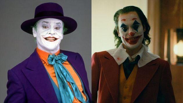 El 'joker' de Jack Nicholson y el 'joker' de Joaquin Phoenix.