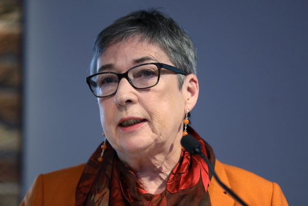Britain's Labour Party MP Ann Coffey makes an announcement she is leaving the party, in London, Britain,...