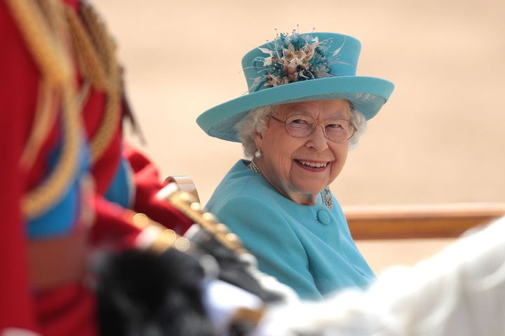 The Queen at Trooping the Colour in 2018. Each year she celebrates two birthdays.