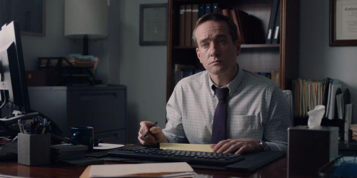 "Matthew Macfadyen stars as HR head Wilcock in ""The Assistant."""
