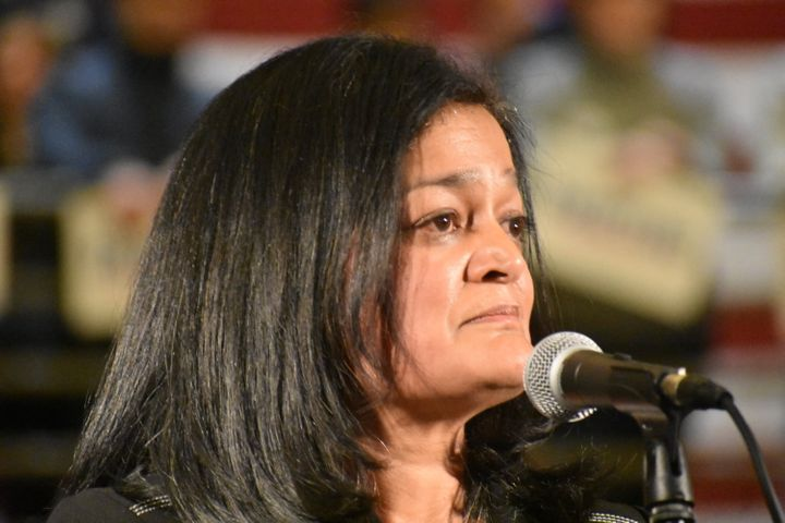 """Rep. Pramila Jayapal said""""all attention"""" should be trained on President Donald Trump's impeachment tr"""