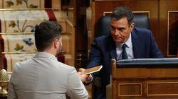 Una reunión de urgencia entre Sánchez y Rufián en Moncloa desbloquea la crisis