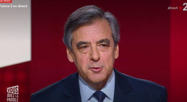François Fillon sur le plateau de