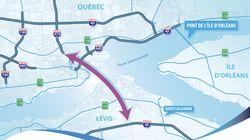 Troisième lien: Québec présente un nouveau tracé, mais pas ses