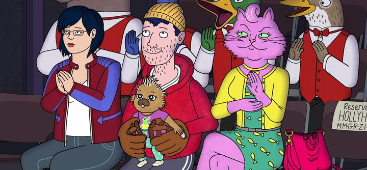 "Another scene from the final episodes of ""BoJack Horseman"""