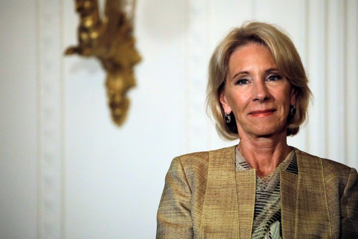 Education Secretary Betsy DeVos rescinded guidelines about transgender students' use of school bathrooms in 2017.