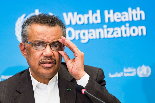 Tedros Adhanom Ghebreyesus, Director General of the World Health Organization (WHO), talks to the media...