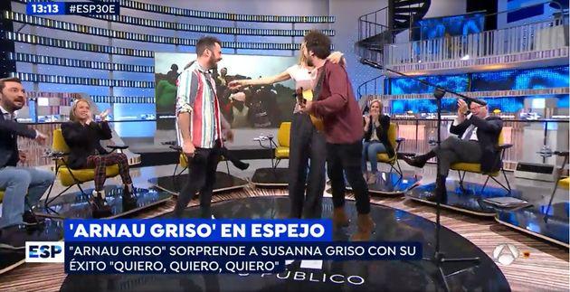 Susanna Griso saluda a su sobrino en 'Espejo