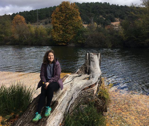 La autora, en el río Duero a su paso por