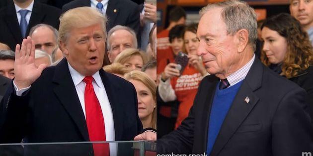Donald Trump et Michael Bloomberg dans leur spot publicitaire au Super Bowl, le 2 février