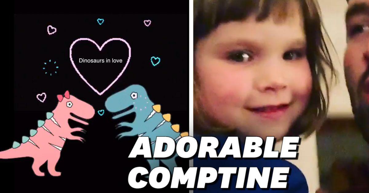 """""""Dinosaurs in love"""", la chanson d'une enfant de 3 ans a ému tout le monde"""