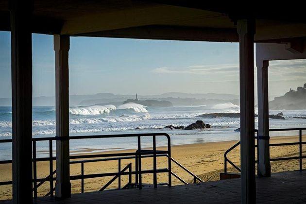 Vista de la playa del Sardinero en
