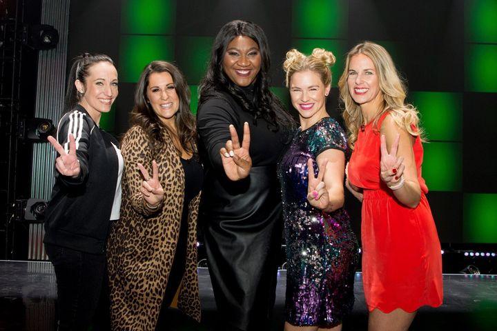 Mélissa Bédard et les Baby Spice à l'émission «1res fois», le 30 janvier 2020