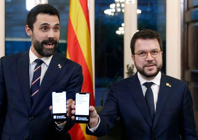 Torrent y Aragonès presentan los presupuestos