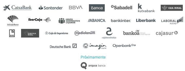 Bancos con los que se puede usar Bizum.