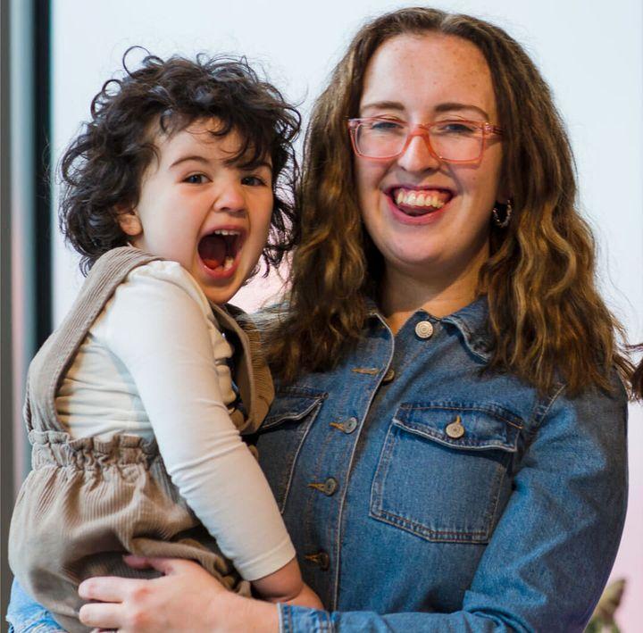 Hannah O'Donoghue-Hobbs and her daughter, Cora