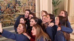Así ha quedado el 'selfie' de Letizia y la selección femenina de