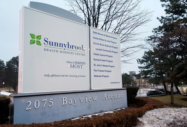 Sunnybrook Health Sciences Centre is seen here in Toronto on Jan. 26, 2020. The hospital says Canada's...