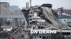 L'effondrement spectaculaire d'un stade à St-Petersbourg fait une