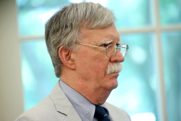 U.S. national security adviser John Bolton reportedly writes in a draft of his upcoming book that President Donald Trump was