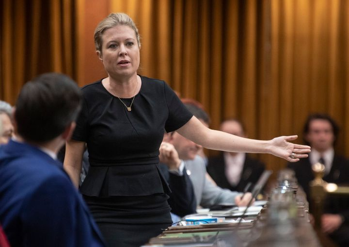 Conservative MP Michelle Rempel Garner rises in the House of Commons on Dec. 13, 2019.