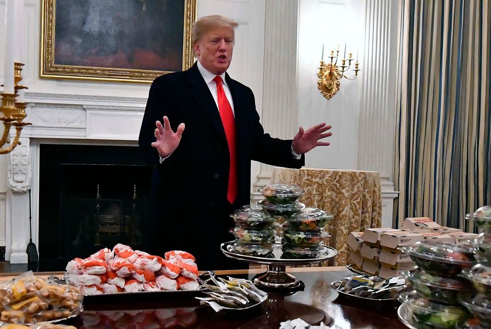 President Donald Trump famously — or infamously — decided in January 2019 that he would offer tables full of fast