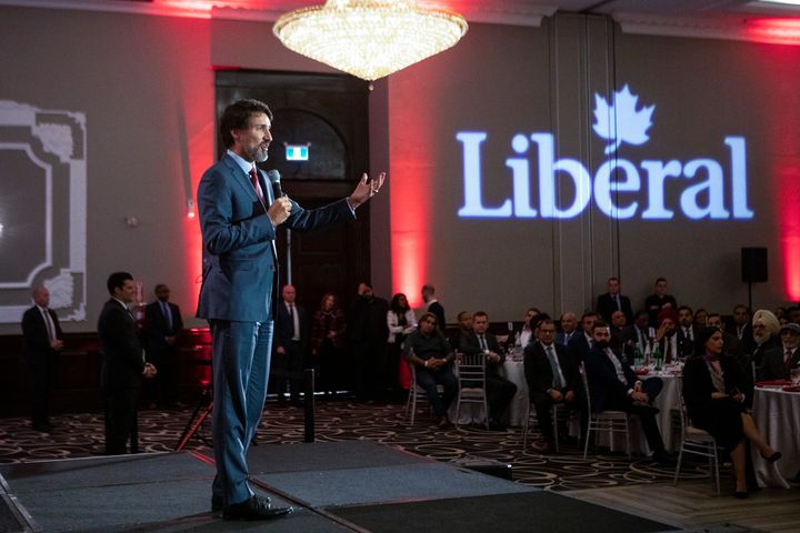 Prime Minister Justin Trudeau speaks at a Liberal Party fundraiser in Mississauga on Thursday January 30, 2020.
