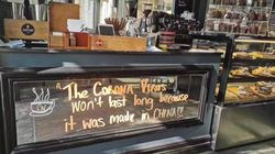 Sydney Cafe's 'Made In China' Coronavirus Sign Sparks