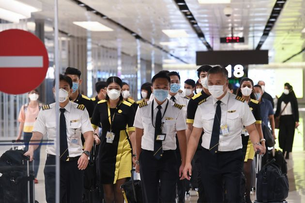 The flight crew of the chartered Scoot airline which flew to Wuhan to evacuate Singaporean nationals...